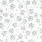 Lewis & Irene Make Another Wish - 4683 - Silver Dandelions on Off White - A59.4 - Cotton Fabric